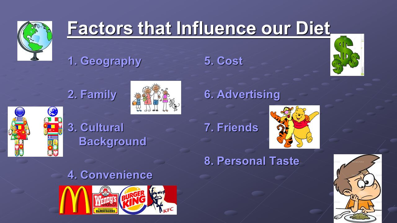 Factors that Influence our Diet