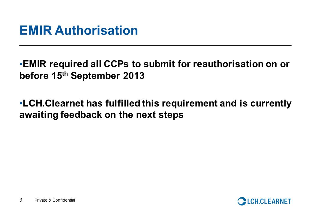 LCH Clearnet: IMA Clearing House day - ppt video online download