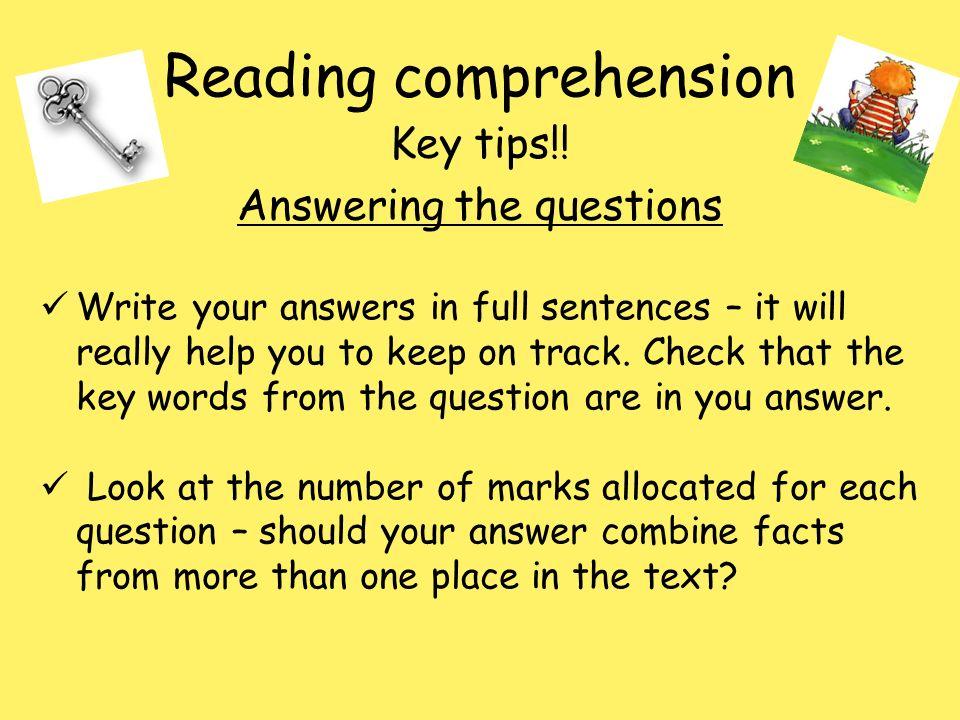 Reading comprehension - ppt download