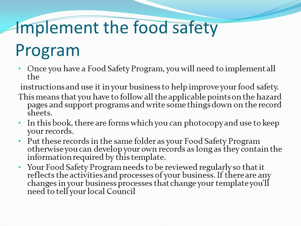 How Long Should I Keep The Records Food Safety