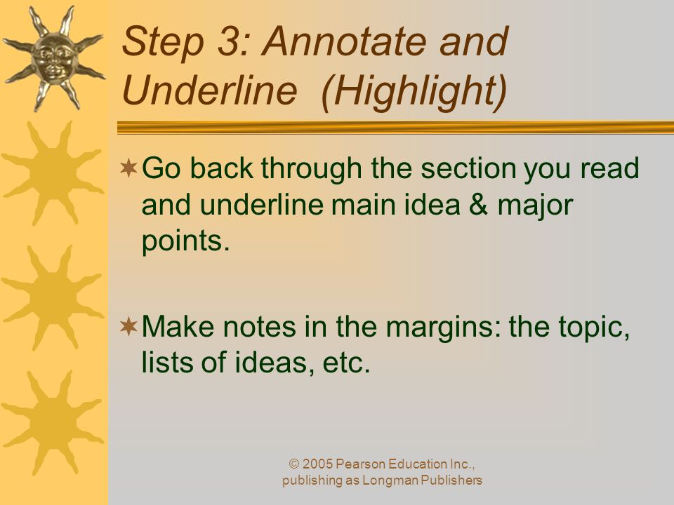 Step 3: Annotate and Underline (Highlight)