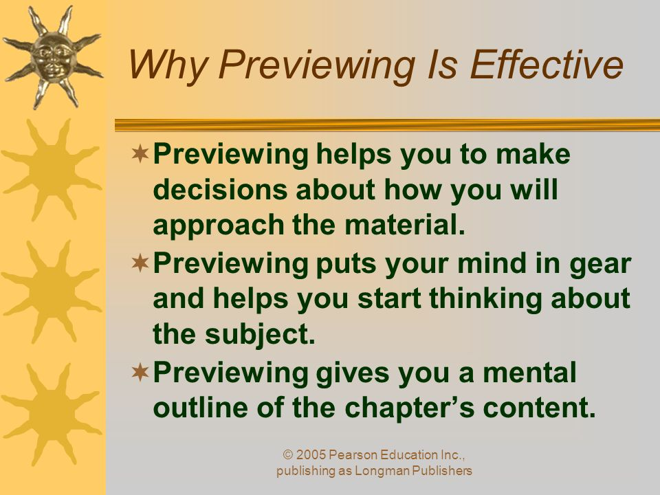 Why Previewing Is Effective