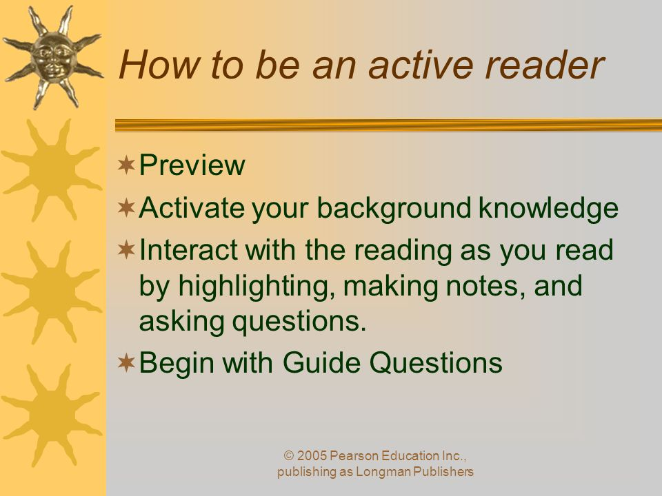 How to be an active reader
