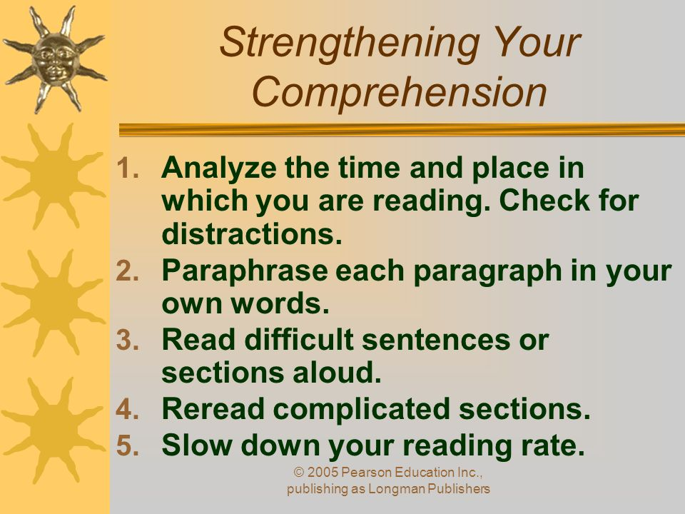 Strengthening Your Comprehension