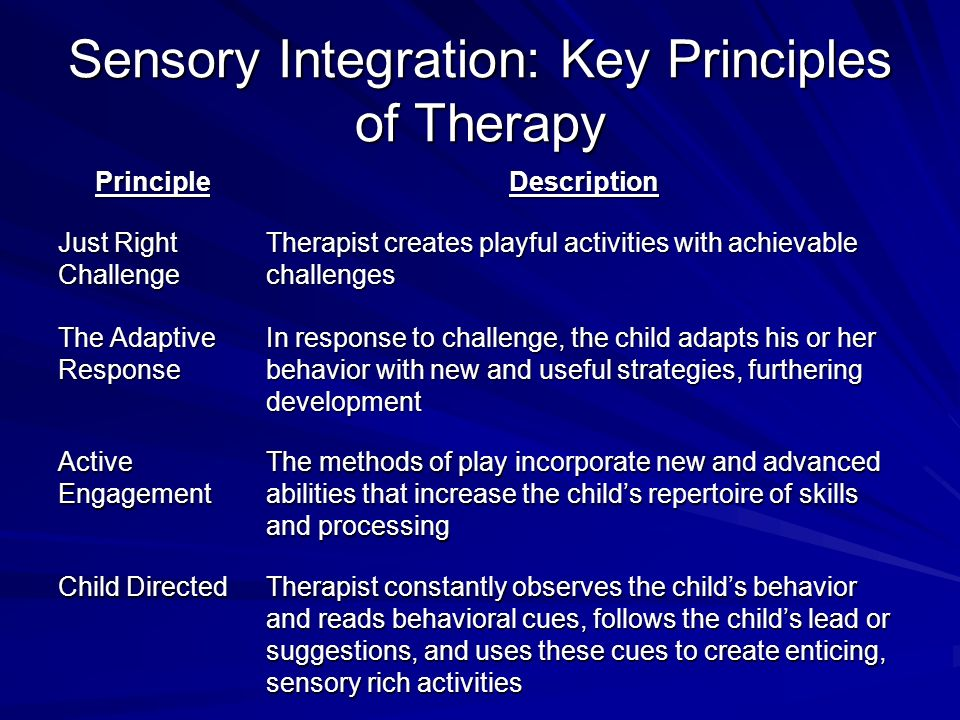 Sensory Integration Therapy For Children With Autism Ppt Video