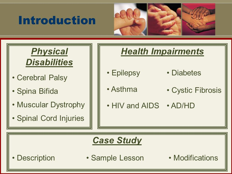 case study physical impairment