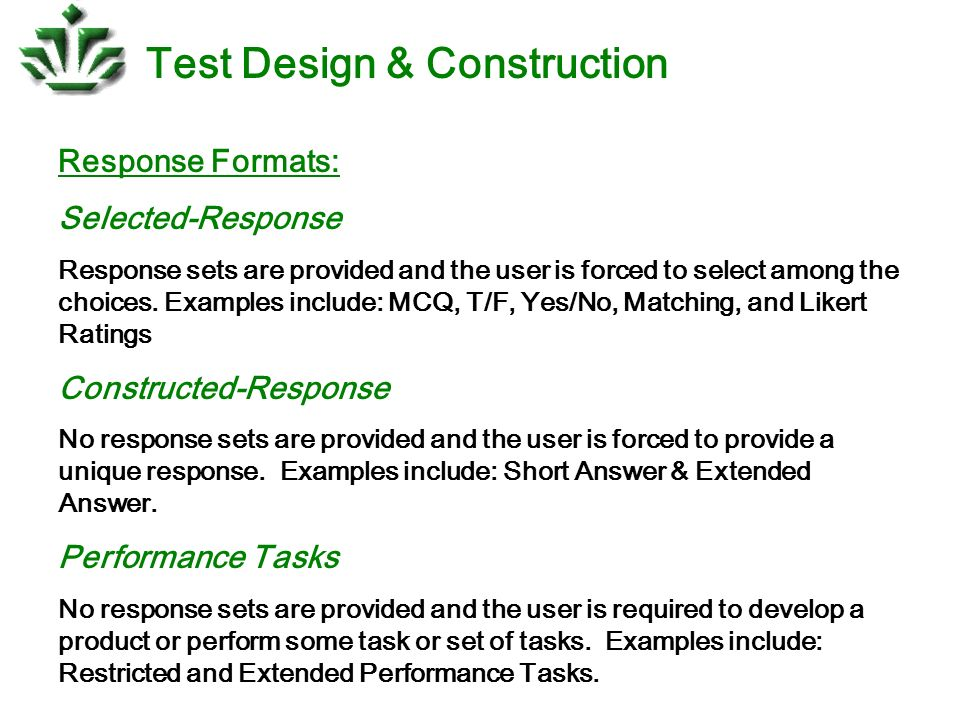 Test design construction ppt download test design construction malvernweather Gallery