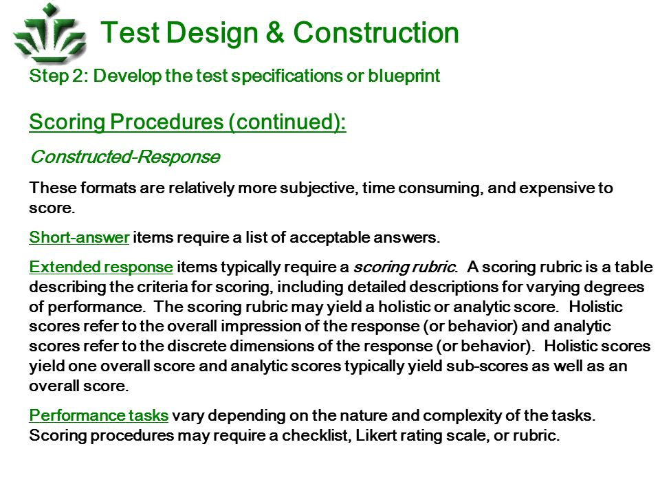 Test design construction ppt download test design construction malvernweather Choice Image