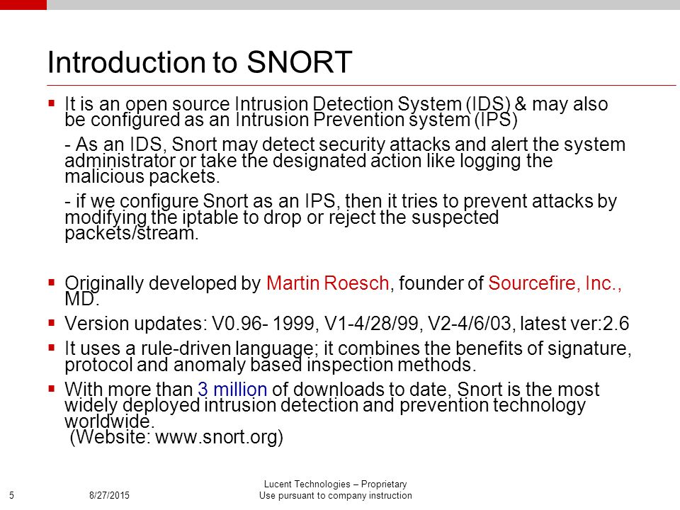 Performance Characterization Improvement Of Snort Ppt Download