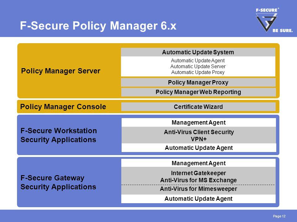 F secure update proxy