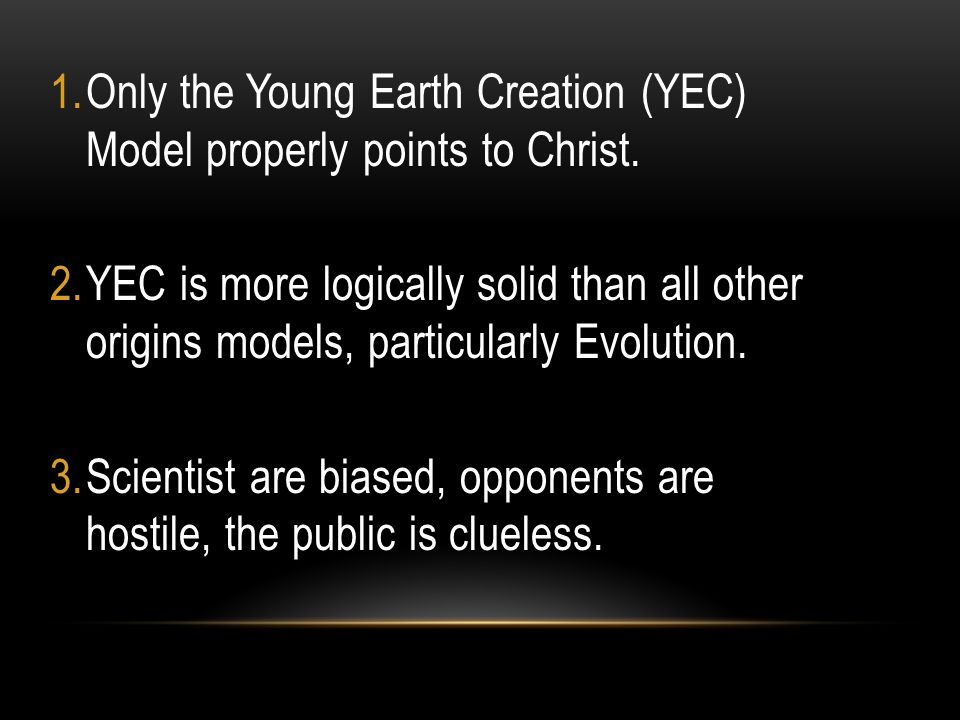 proof of young earth creationism