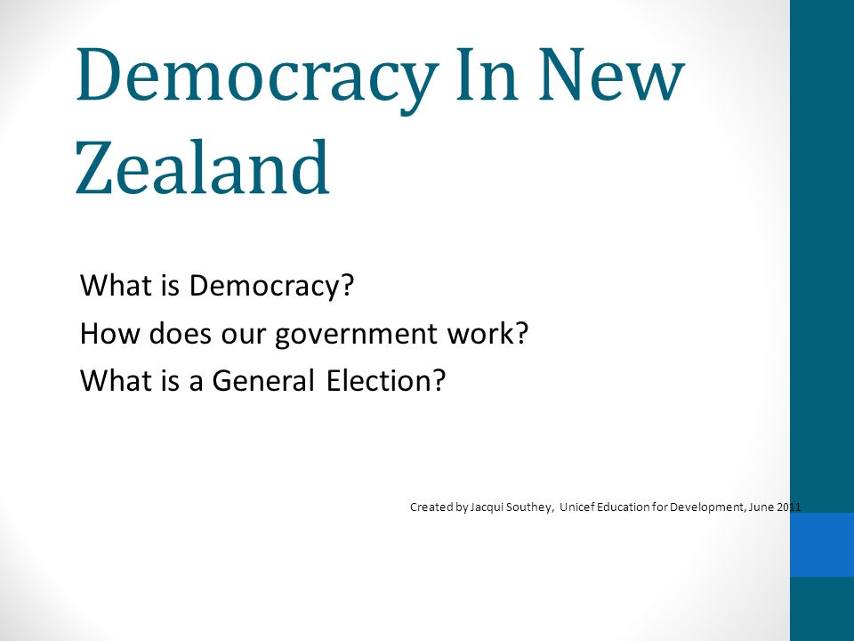 Democracy In New Zealand