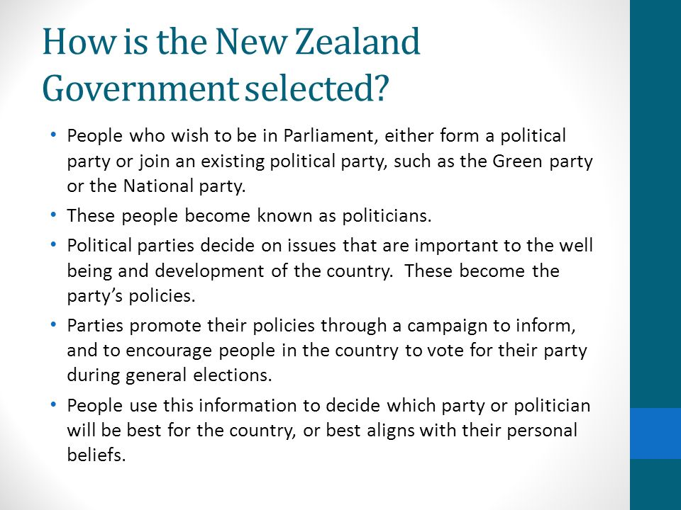 How is the New Zealand Government selected