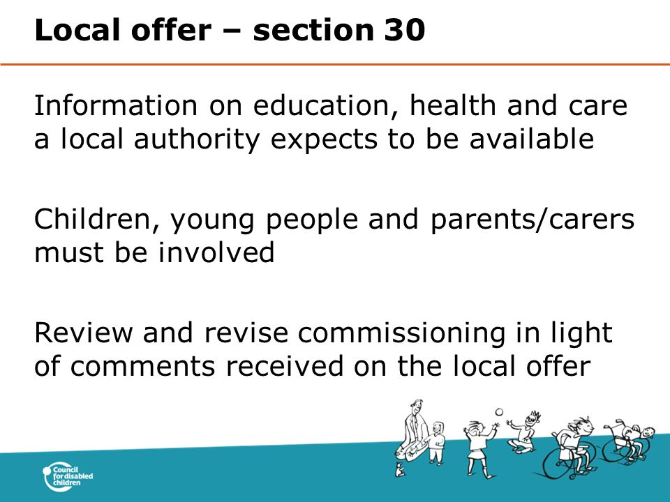 Local offer – section 30