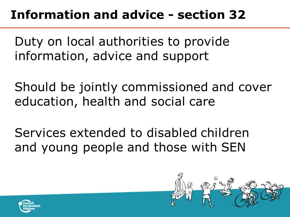Information and advice - section 32