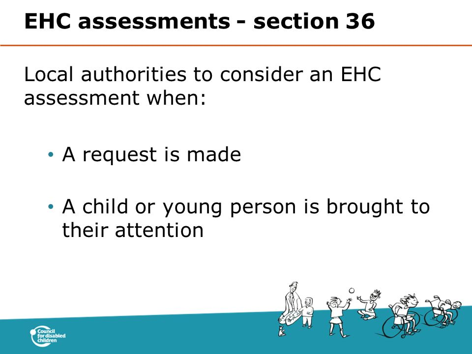 EHC assessments - section 36