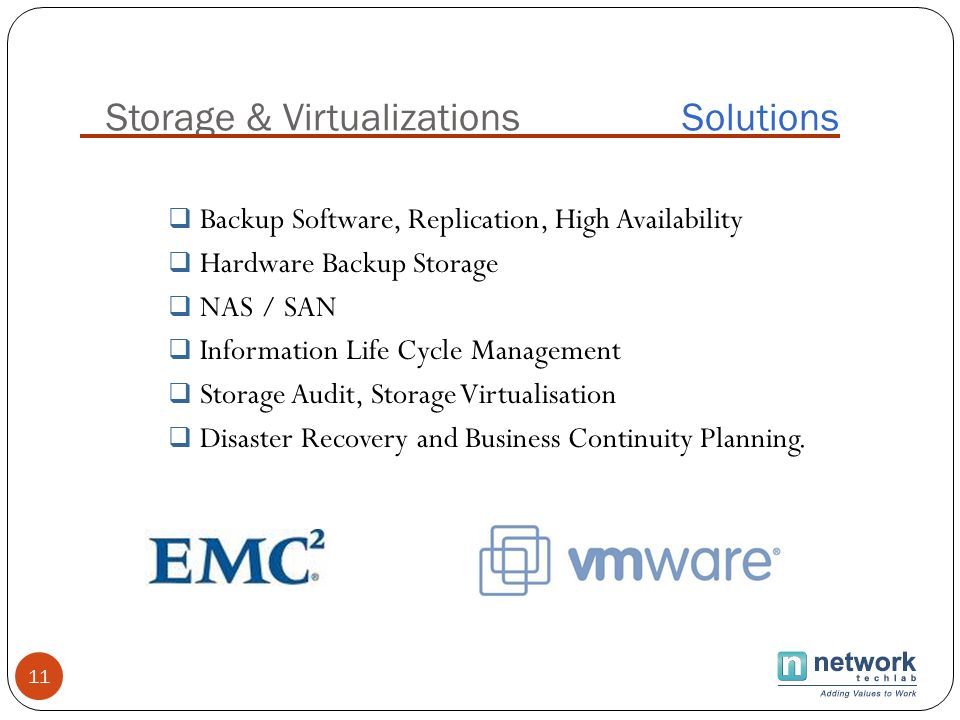 Storage & Virtualizations Solutions