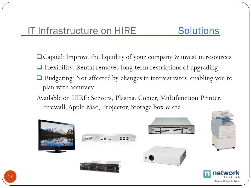 IT Infrastructure on HIRE Solutions