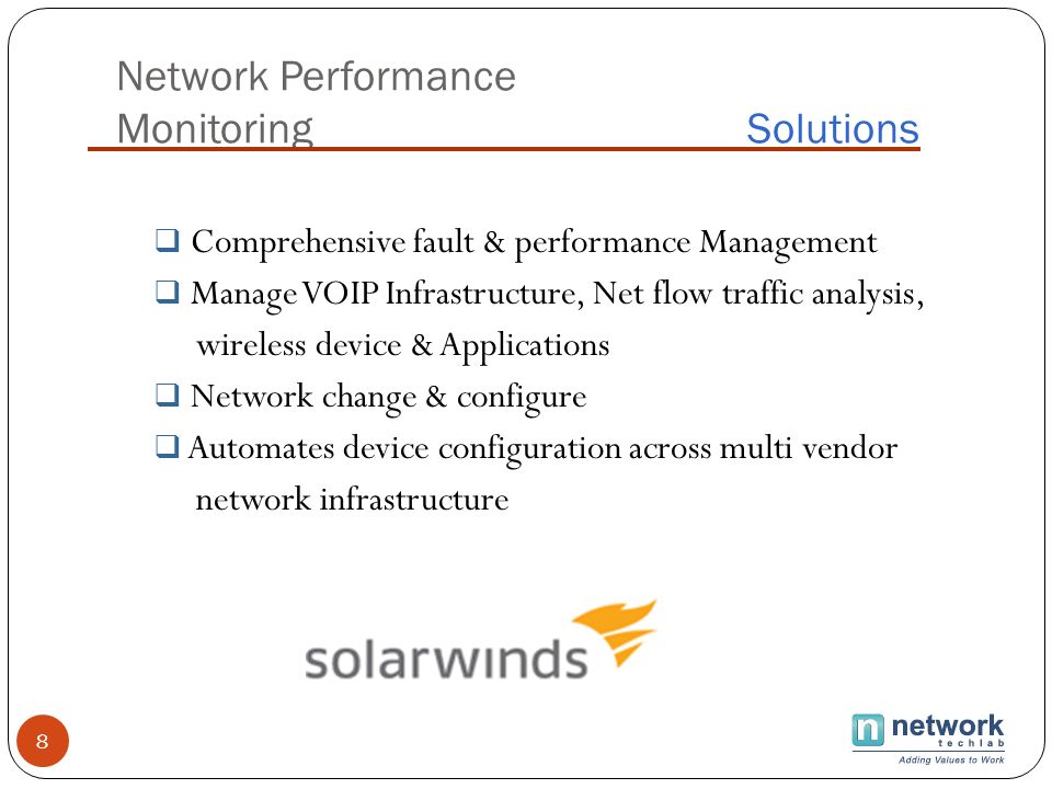 Network Performance Monitoring Solutions