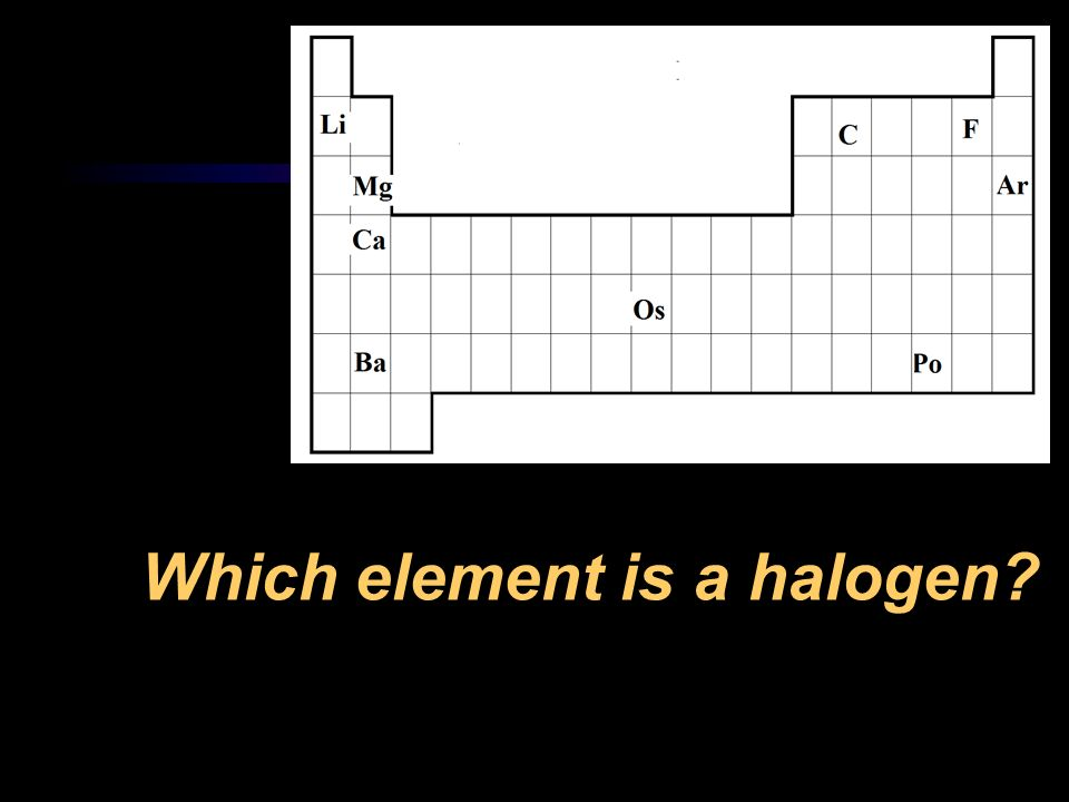 Which element is a halogen
