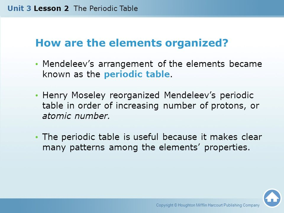 Unit 3 lesson 2 the periodic table ppt download how are the elements organized urtaz Choice Image