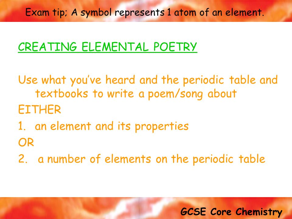 Atoms And Elements Key Words Atom Compound Electron Element