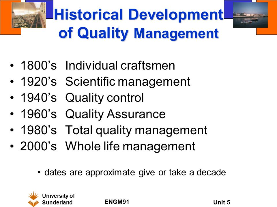 historical development of total quality management