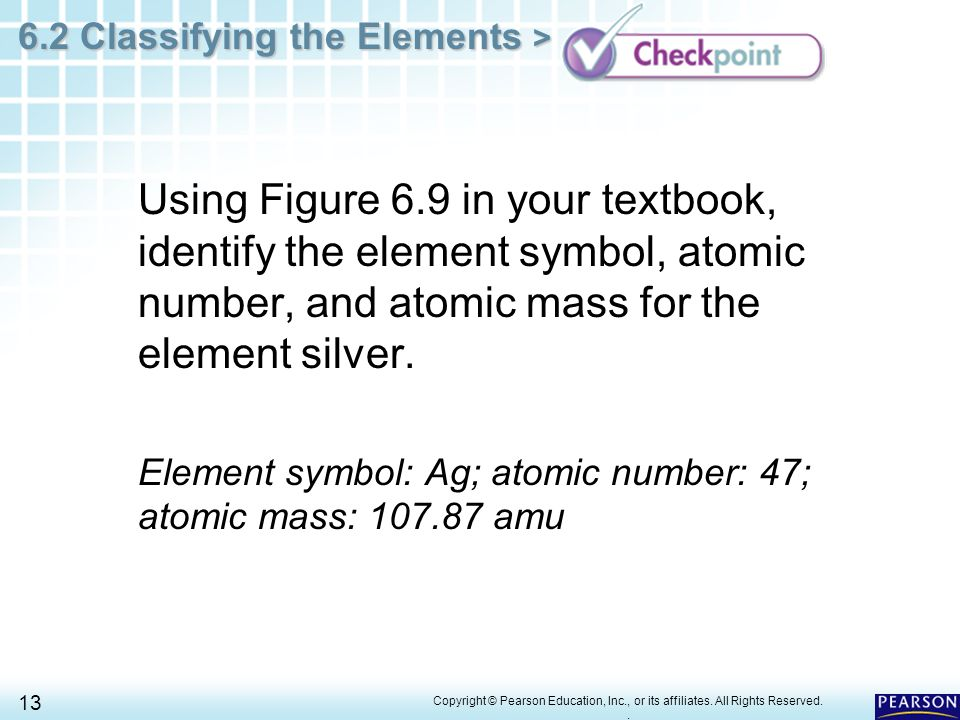 Element symbol for silver images free symbol and sign meaning chapter 6 the periodic table 62 classifying the elements ppt urtaz Image collections