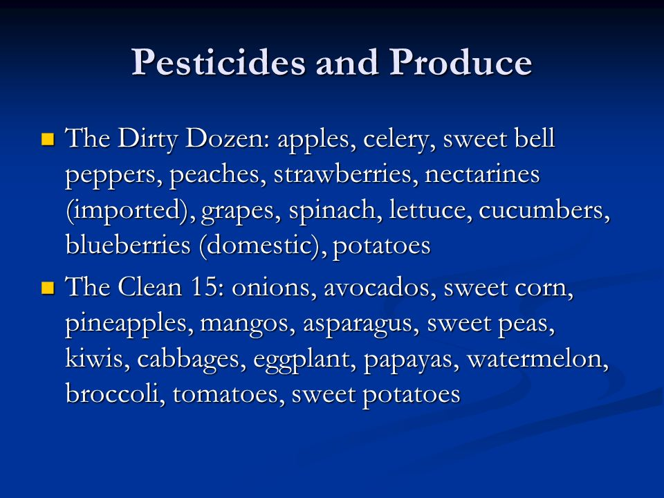 Pesticides and Produce