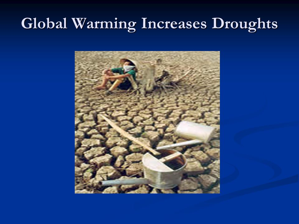Global Warming Increases Droughts