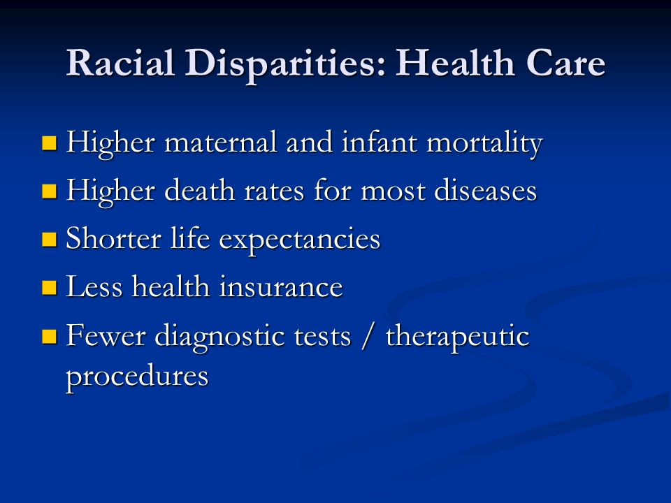 Racial Disparities: Health Care