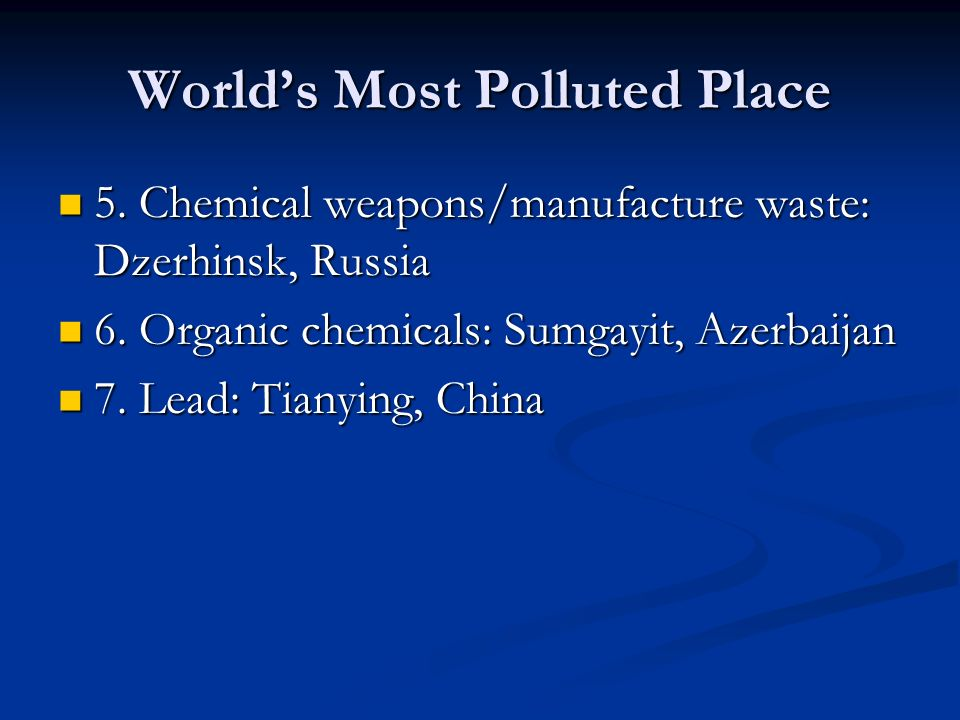 World's Most Polluted Place