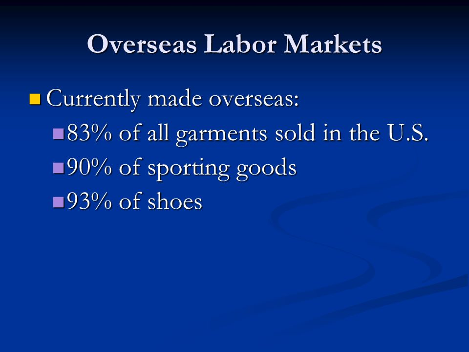 Overseas Labor Markets