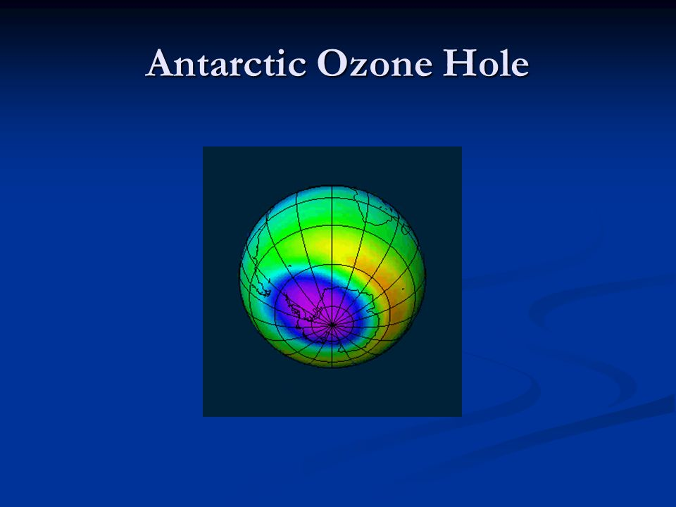 Antarctic Ozone Hole