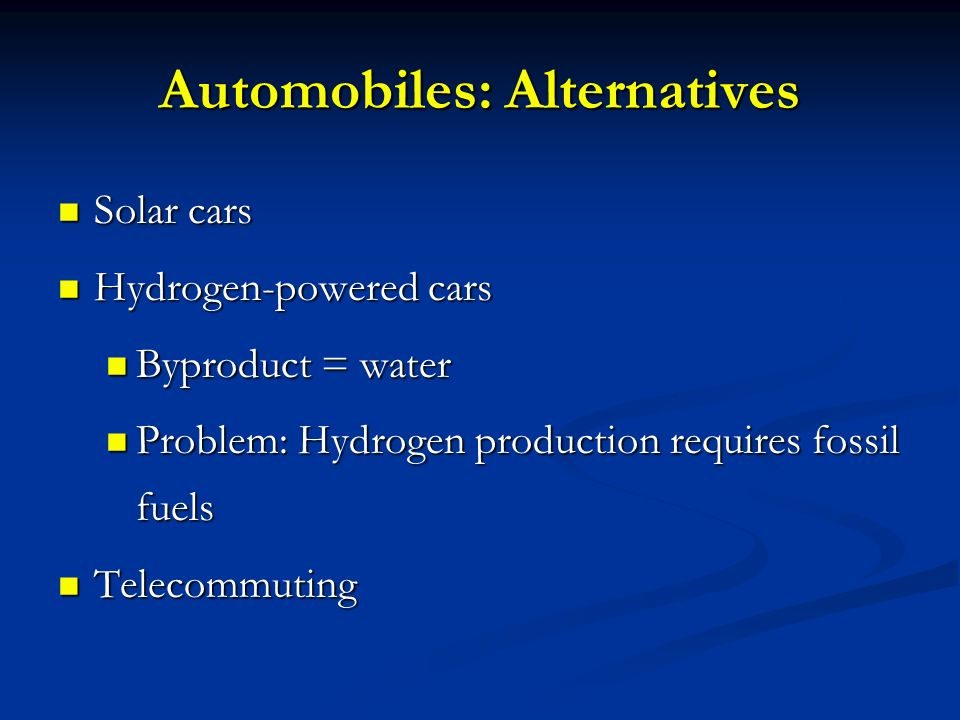 Automobiles: Alternatives