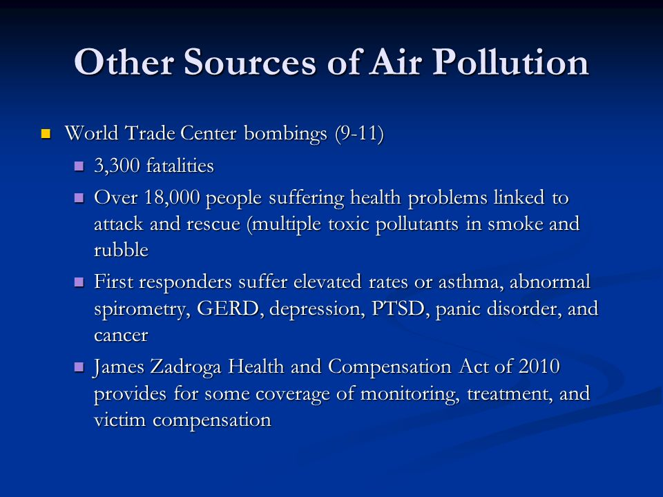Other Sources of Air Pollution