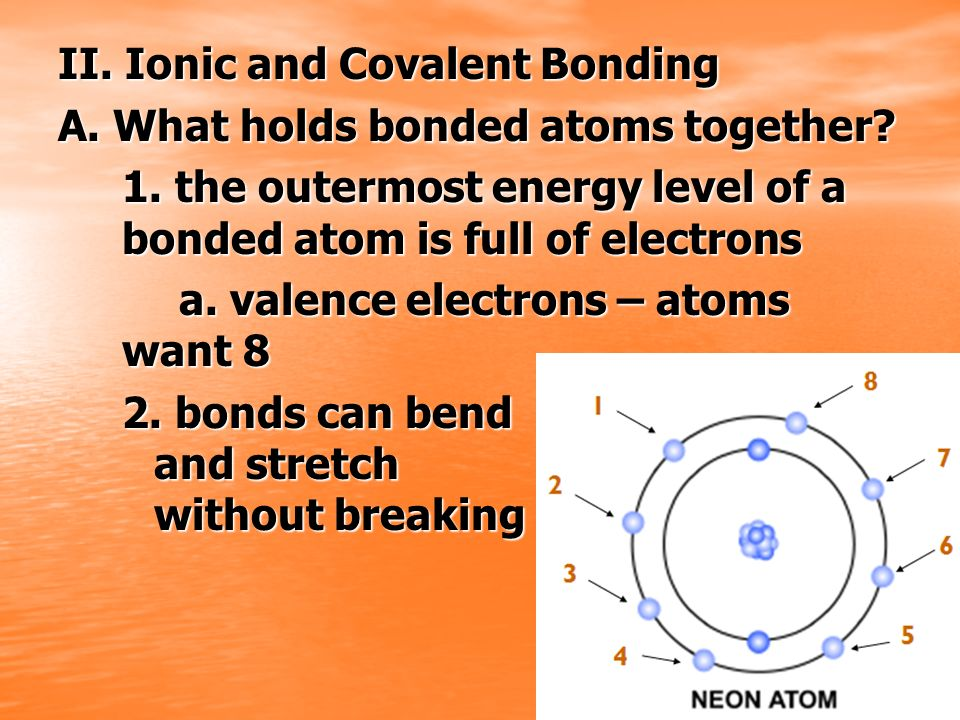 II. Ionic and Covalent Bonding