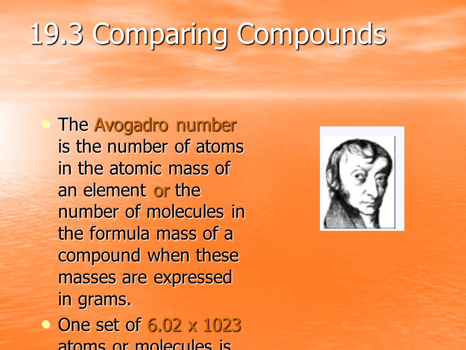 19.3 Comparing Compounds