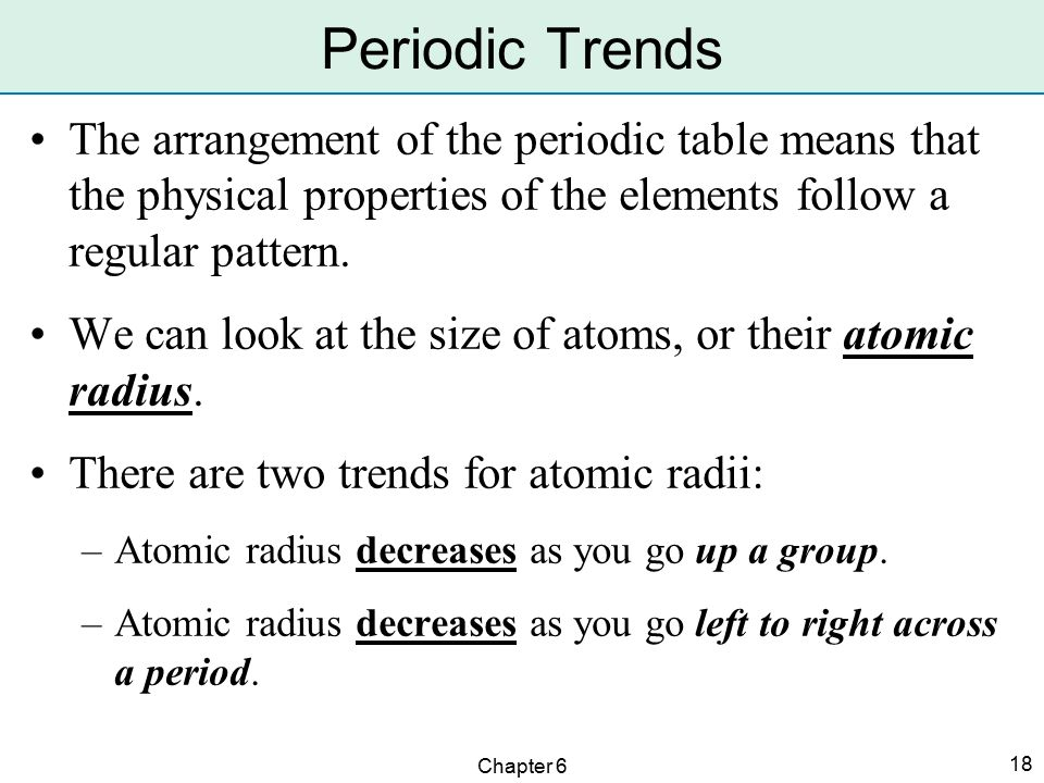 Arrangement of the elements ppt video online download 18 periodic trends urtaz Images