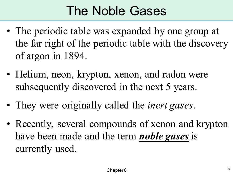 Arrangement of the elements ppt video online download the noble gases the periodic table was expanded by one group at the far right of urtaz Image collections