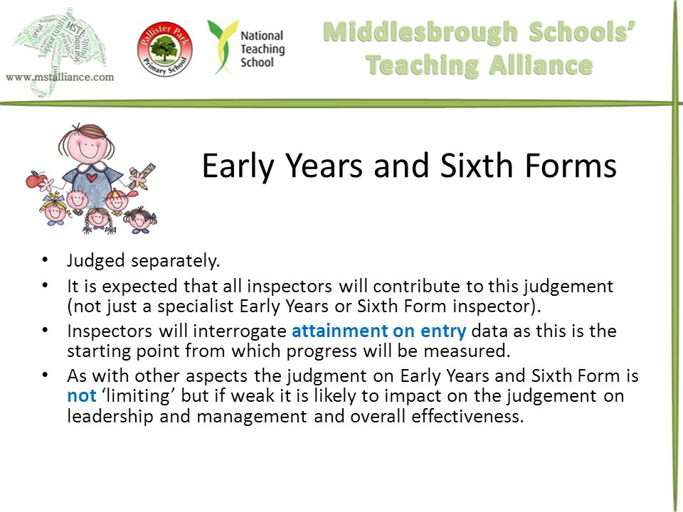 Early Years and Sixth Forms