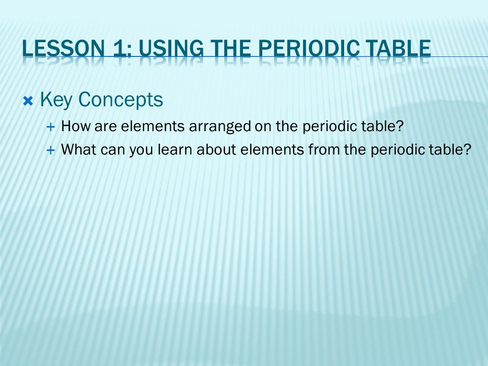 Amazing how are elements arranged on the periodic table concept chapter 7 the periodic table ppt video online download urtaz Images
