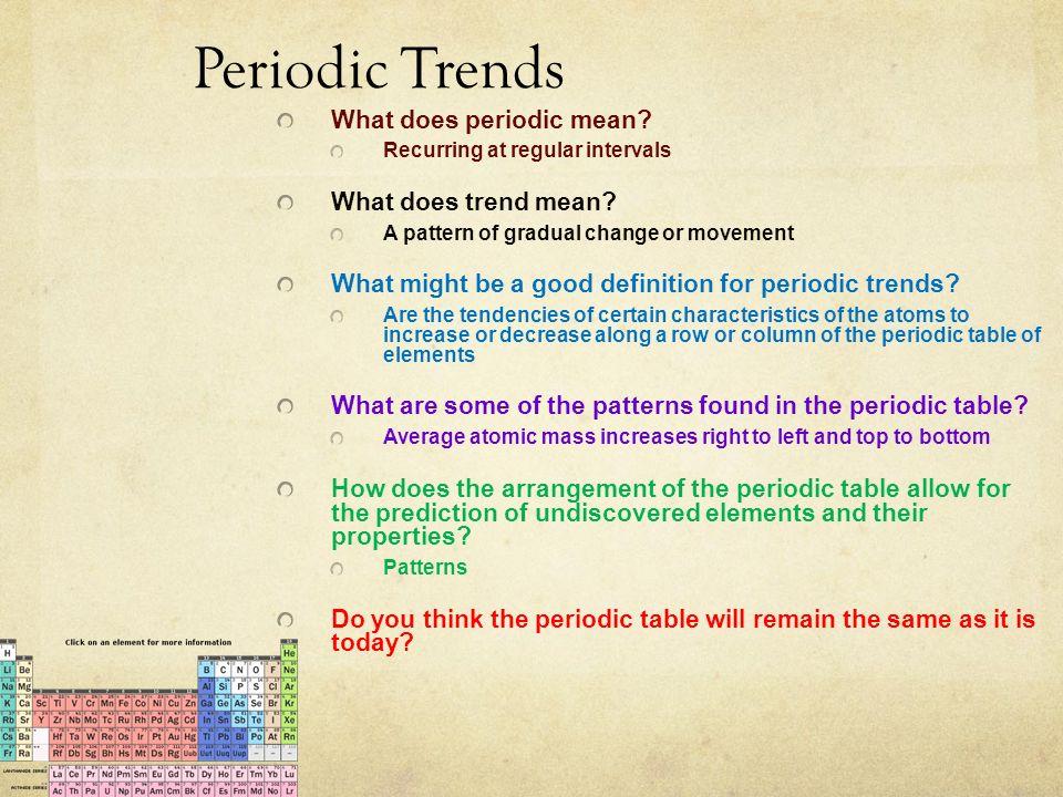66 Periodic Trends ...