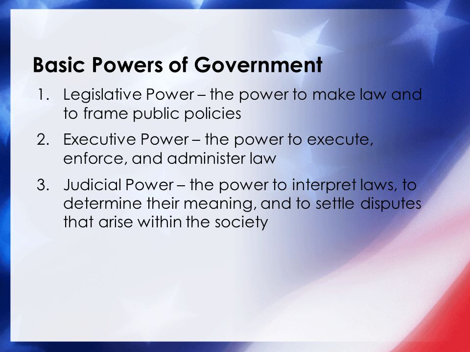 Bell Ringer What does the United States government do for the ...