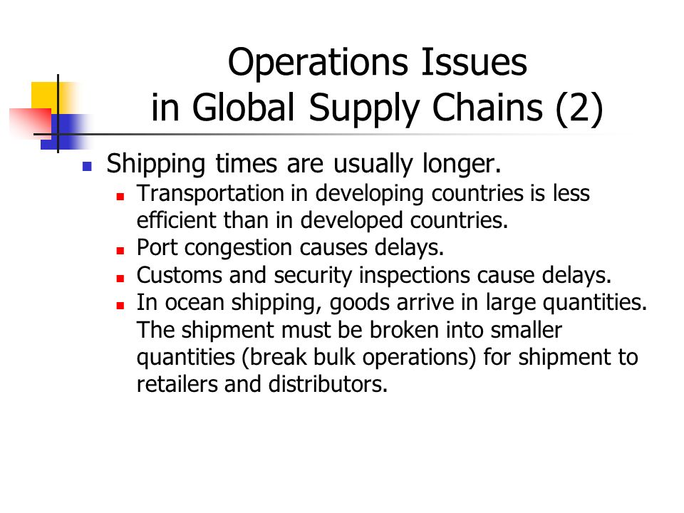 The different issues on global sourcing of stock