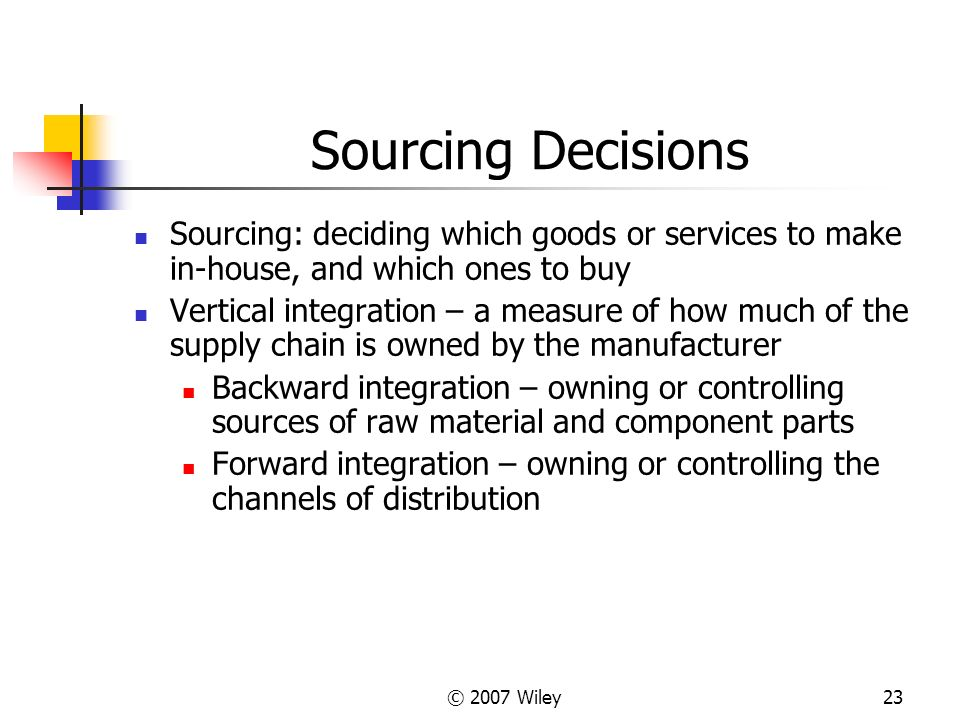 """decisions to vertically integrate in the Table 83 vertical integration at american apparel when using vertical integration, firms get involved in different elements of the value chain this concept gets top billing at american apparel, a firm that describes its business model as """"vertically integrated manufacturing""""."""