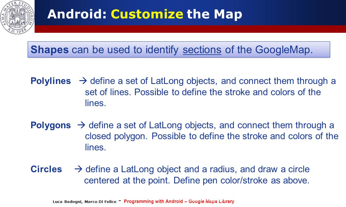 Programming with Android: Localization and Google Map Services - ppt