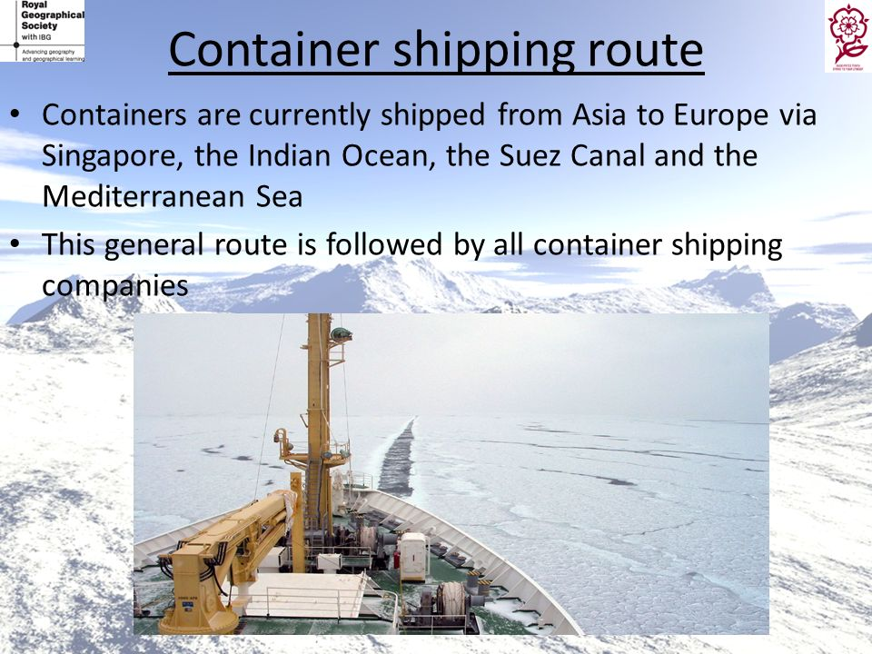 Container shipping route