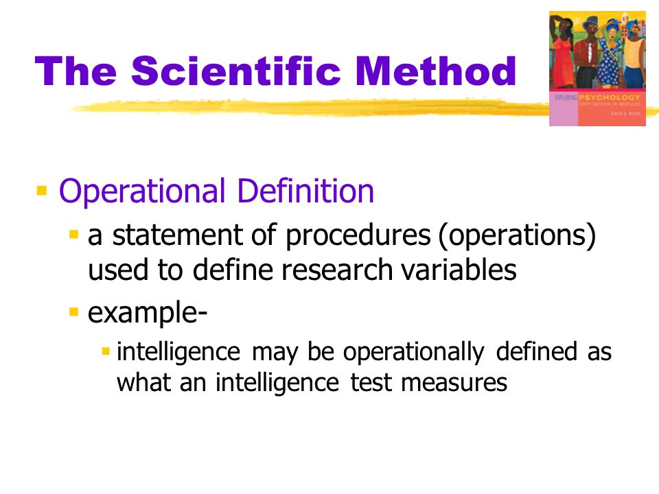 The Scientific Method Operational Definition