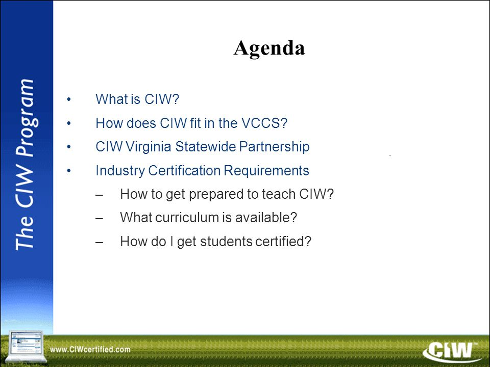 Whats New With Ciw Stephen Schneiter Certification Specialist Ppt